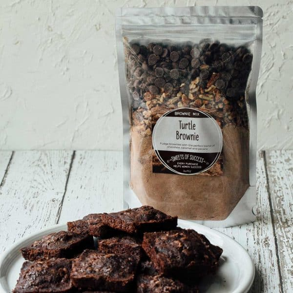 Soup of Success Turtle Brownies Product Photo.