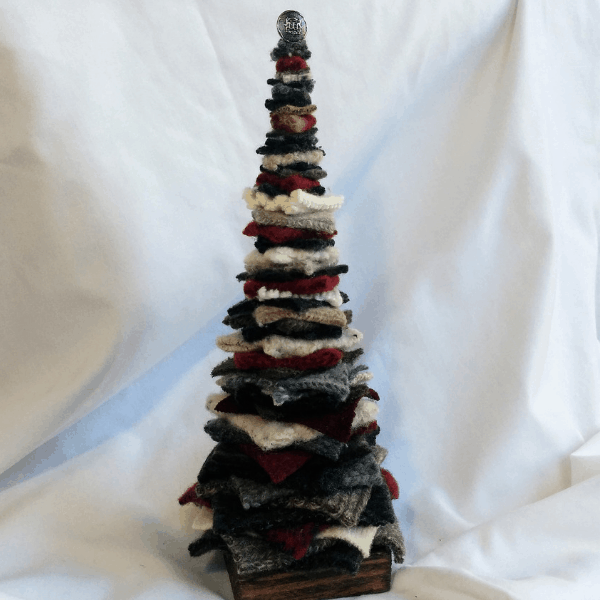 Decorative Tree: Red and Grey