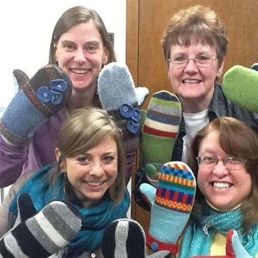 Group with Mittens