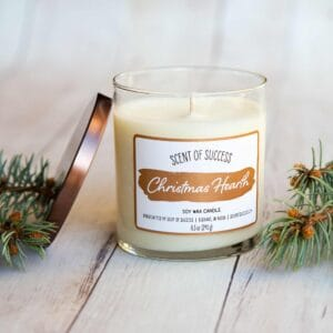 Open Soup of Success Christmas Hearth Soy Candle