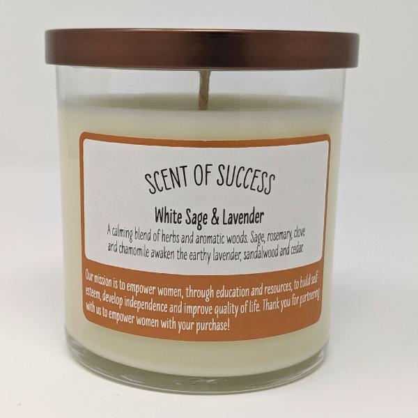 white sage back label