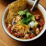 Bowl of Soup of Success' Spicy Tortilla Soup.