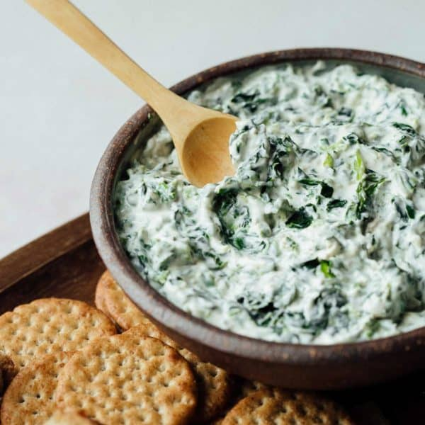Bowl of Soup of Success' Spinach Dip.