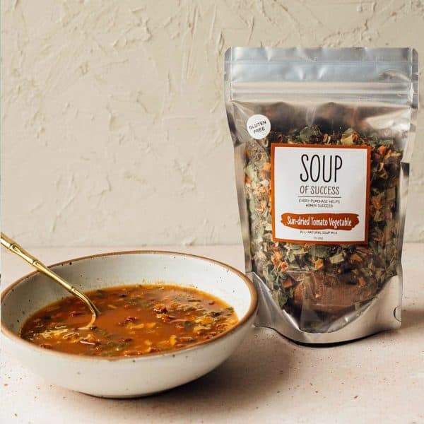 Soup of Success Sun-dried Tomato Vegetable Soup product photo.