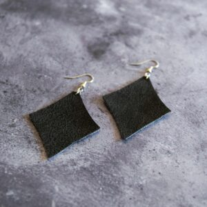 Soup of Success Black Diamond Earrings