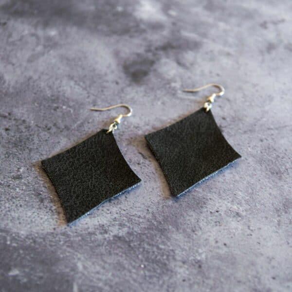 Soup of Success Black Diamond Earrings
