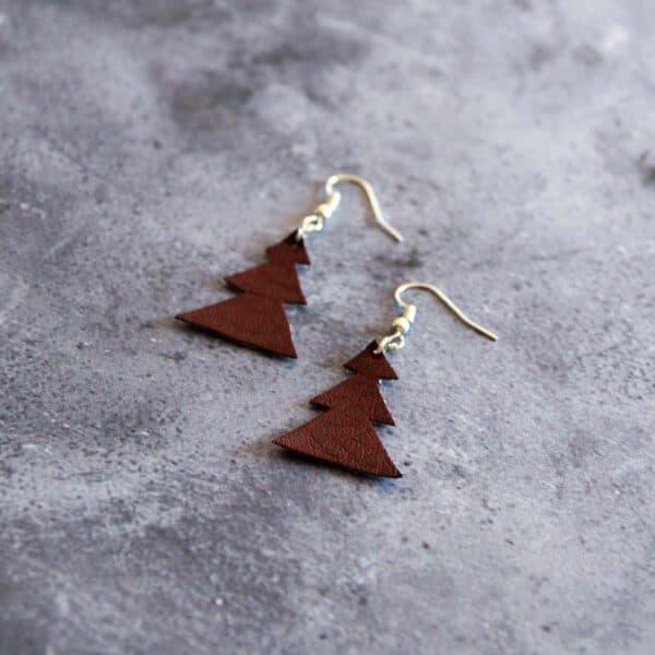 Soup of Success Brown Tree Earrings