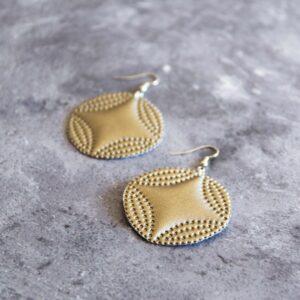 Soup of Success Metallic Circle Earrings