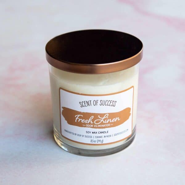 Soup of Success Fresh Linen Soy Candle