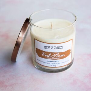 Open Soup of Success Fresh Linen Soy Candle
