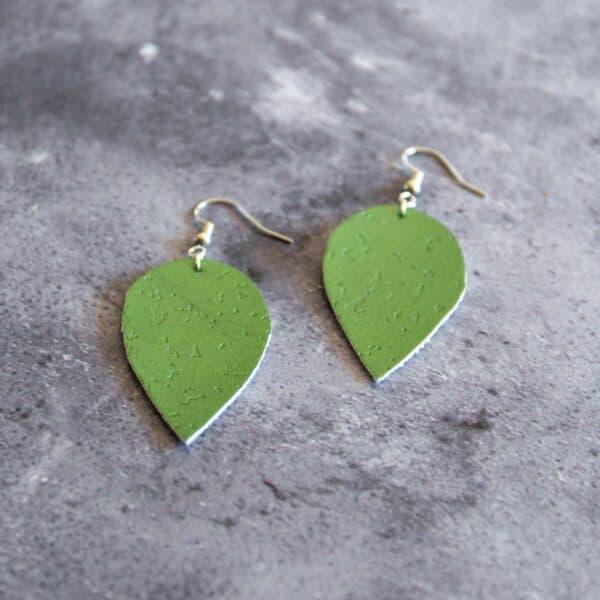 Soup of Success Green Leaf Earrings