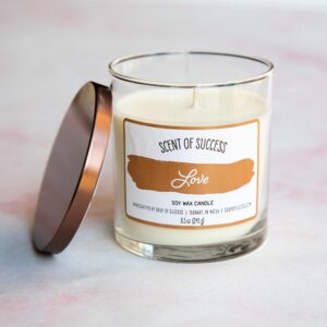 Open Soup of Success Love Soy Candle