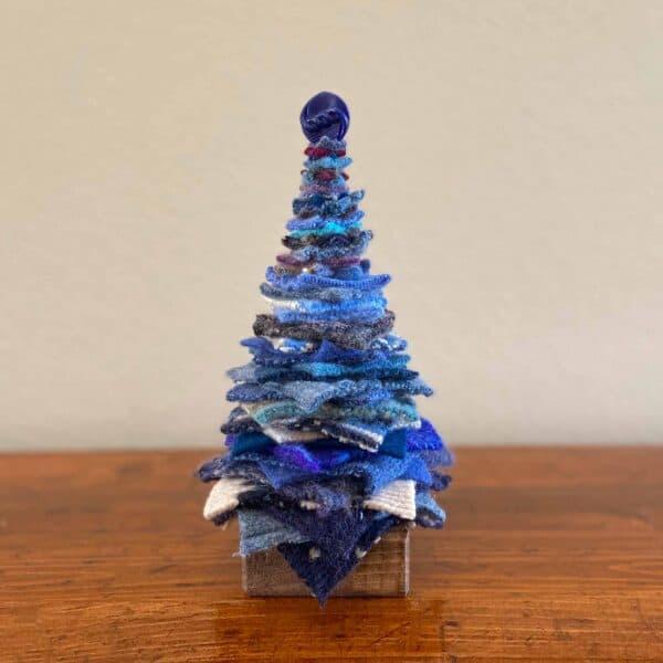 Soup of Success Medium Blue Fabric Tree