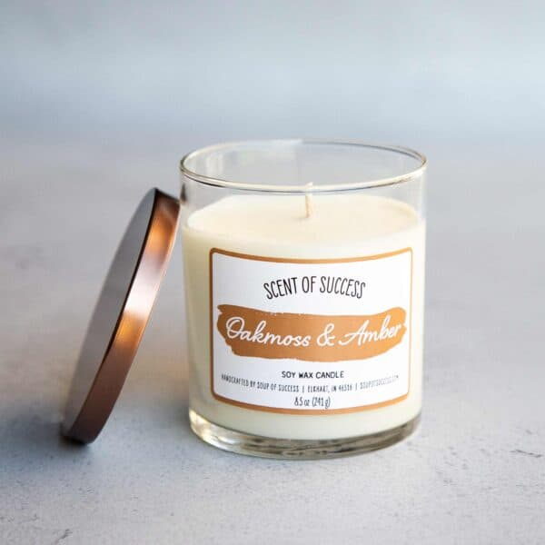 Open Soup of Success Oakmoss & Amber Soy Candle