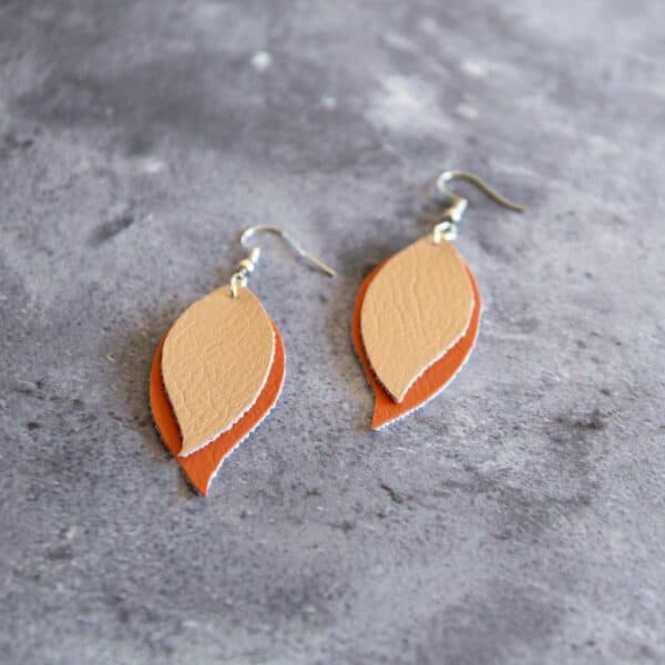 Soup of Success Orange Tear Drop Earrings