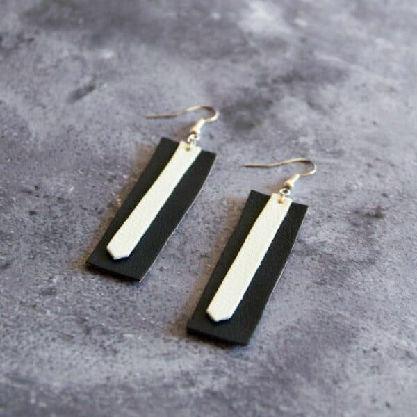 Soup of Success Black and White Earrings