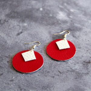 Soup of Success Red Circles Earrings