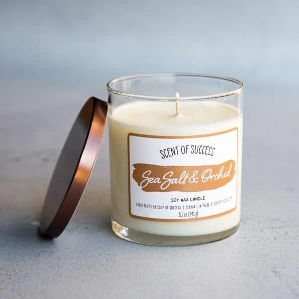 Open Soup of Success Sea Salt & Orchid Soy Candle