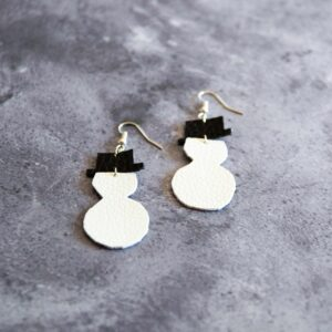 Soup of Success Snowman Earrings