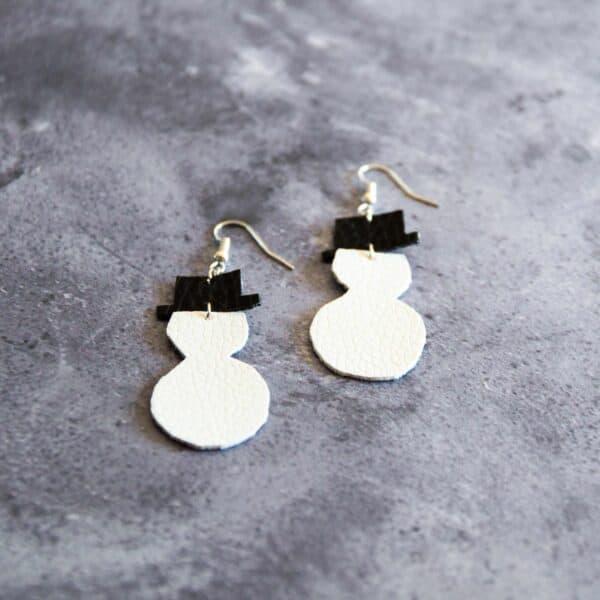 Soup of Success Snowman Earrings