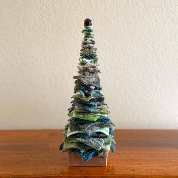 Soup of Success Tall Green Fabric Tree