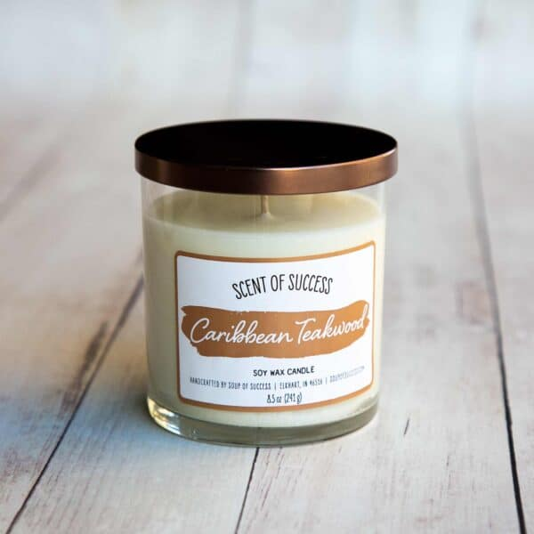 Soup of Success Caribbean Teakwood Soy Candle