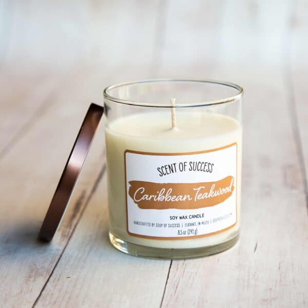 Open Soup of Success Caribbean Teakwood Soy Candle