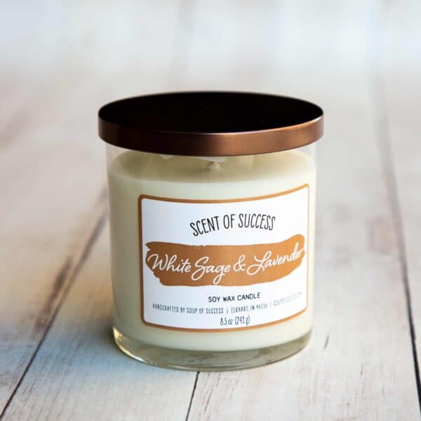 Soup of Success White Sage & Lavender Soy Candle