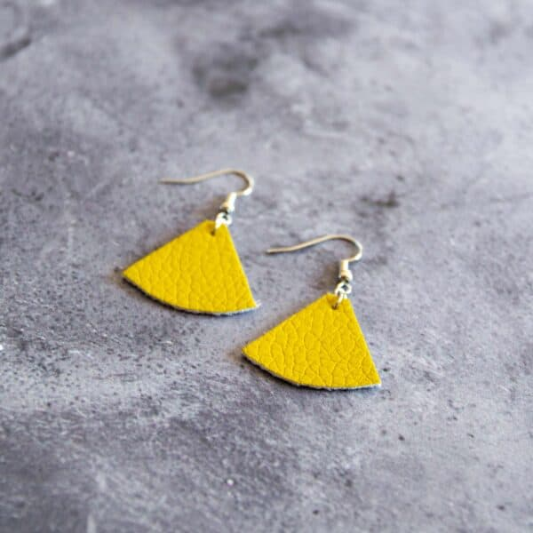Soup of Success Yellow Triangle Earrings